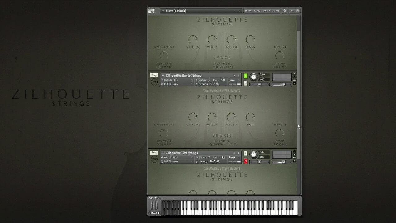 Cinematique Instruments – Zilhouette Strings (KONTAKT) serial key